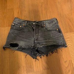 High-waisted Levi's shorts!